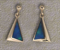 Inlaid Opal Drop Earrings IE08