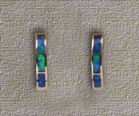 Inlaid Opal Hoop Earrings IE01