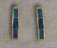 Inlaid Opal Hoop Earrings IE02