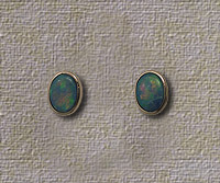 Inlaid Opal Stud Earrings IE09