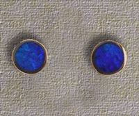Inlaid Opal Stud Earrings IE05