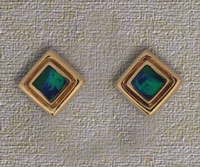 Inlaid Opal Stud Earrings IE06