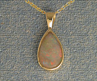 Solid White Opal Pendant OP13