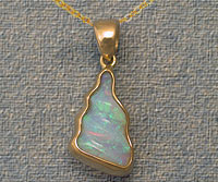 Solid Crystal Carved Opal Pendant OP10
