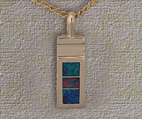 Inlaid Opal Pendant IP03