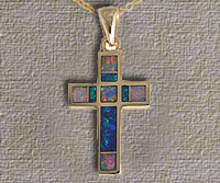 Inlaid Opal Pendant IP05