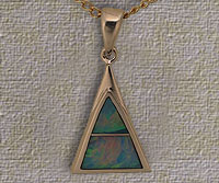 Inlaid Opal Pendant IP07