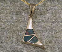 Inlaid Opal Pendant IP09