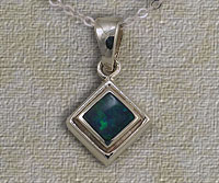 Inlaid Opal Pendant IP12