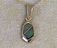 Inlaid Opal Pendant IP11