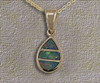 Inlaid Opal Pendant IP10