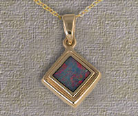 Inlaid Opal Pendant IP13
