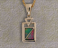 Inlaid Opal Pendant IP14