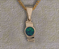 Inlaid Opal Pendant IP02
