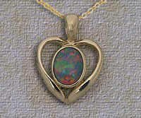 Genuine opal pendants and jewellery by laszlos opals and jewelry inlaid opal pendant ip01 aloadofball Images