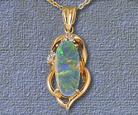 Genuine opal pendants and jewellery by laszlos opals and jewelry solid opal pendant op07 fine quality semi black opal pendant op08 mozeypictures Gallery