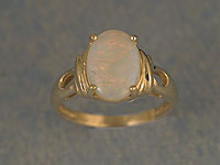 Solid White Opal Ring OR08