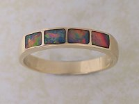 Inlaid Opal Ring IR09