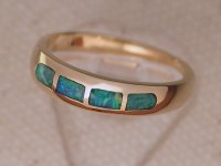 Inlaid Opal Ring IR07